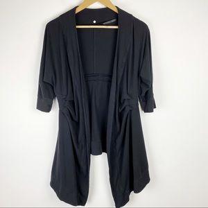 Lululemon Namaste Wrap Cardigan Black Size 6